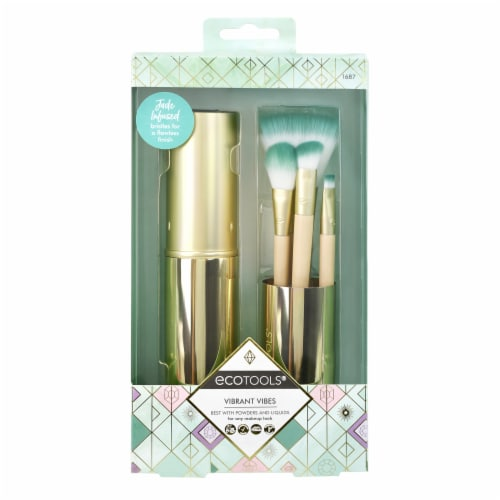Ecotools Vibrant Vibes Brush Kit Perspective: front
