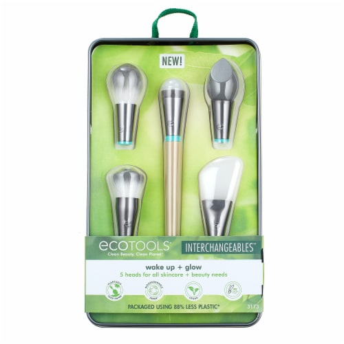 Ecotools Wake Up and Glow Brush Set Perspective: front