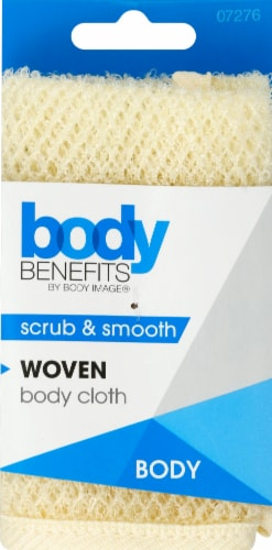 Body Benefits Woven Wash Cloth - Cream Perspective: front