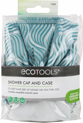 Ecotools Shower Cap and Storage Case Perspective: front