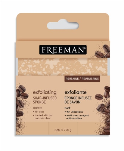 Freeman Exfoliating Coffee Soap-Infused Sponge Perspective: front