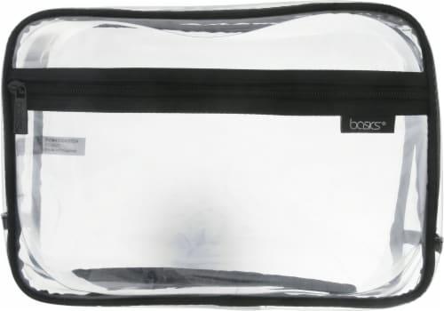 Modella Basics Large PVC Organizer Cosmetics Bag Perspective: front
