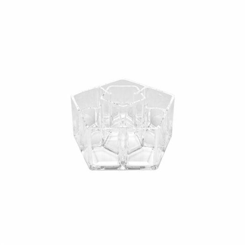 Allegro Acrylic Pentagon Shaped Cosmetic Organizer Perspective: front
