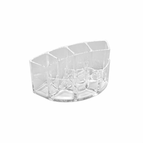 Allegro Acrylic Curved Brush Holder Perspective: front