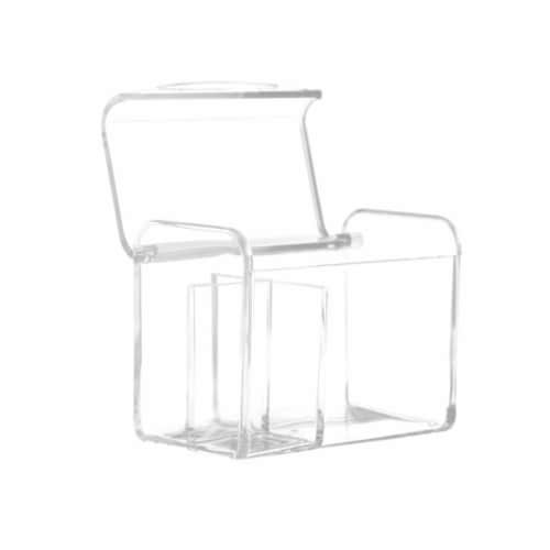 Allegro Acrylic Cotton Swab Organizer Box Perspective: front