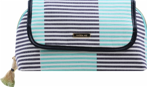Sophia Joy Two Tone Stripe Clutch Perspective: front
