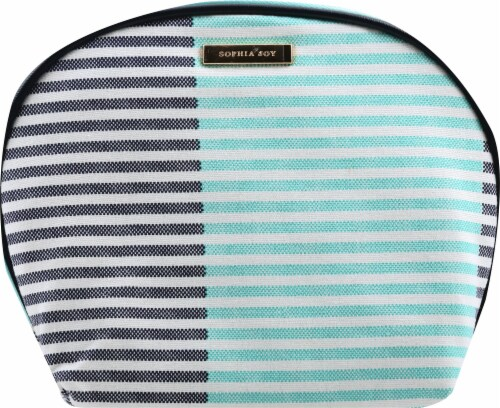 Sophia Joy Two Tone Round Top Kit Makeup Bag Perspective: front