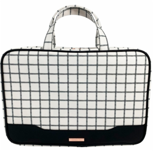 Allegro Sophia Joy Checked Out Weekender Makeup Bag Perspective: front