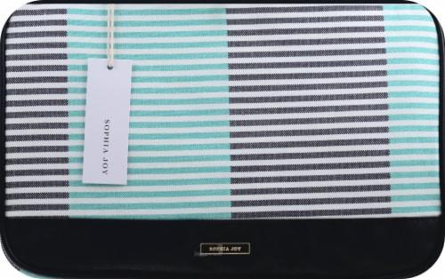 Sophia Joy Two Tone Stripe Weekender Makeup Bag Perspective: front