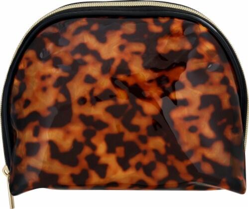 Sophia Joy Round Top Cosmetic Bag - Tortoise Perspective: front