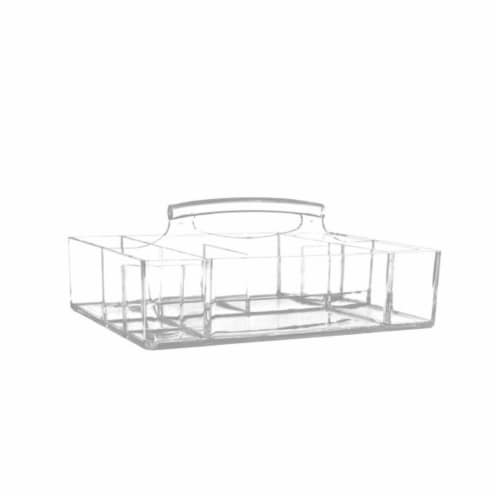 Allegro Acrylic Grab Caddy Organizer Perspective: front