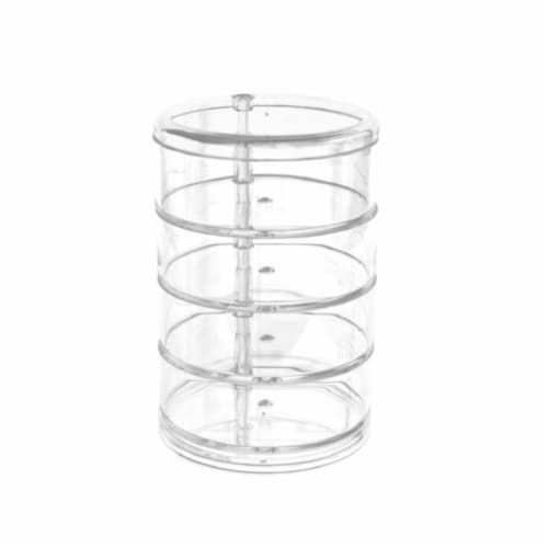 Allegro Circular Acrylic Makeup Holder Perspective: front