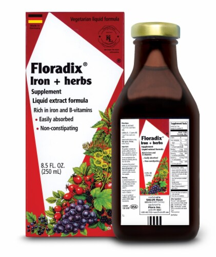 Floradix Iron & Herbs Extract Perspective: front