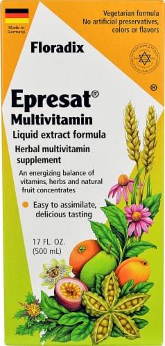 Flora  Floradix® EPRESAT® Multivitamin Liquid Perspective: front