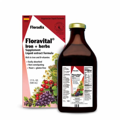 Floradix Floravital Iron & Herbs Perspective: front