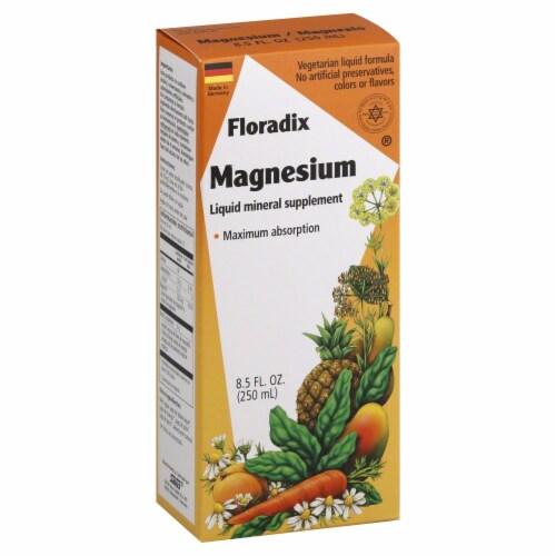 Floradix Magnesium Liquid Mineral Supplement Perspective: front