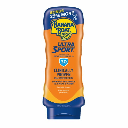 Banana Boat Ultra Sport Sunscreen Lotion SPF 30 Perspective: front