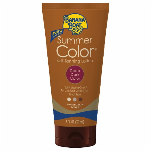 Banana Boat Summer Color Deep Dark Color Self-Tanning Lotion Perspective: front