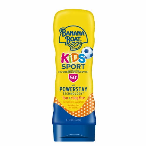 Banana Boat Kids Sport Sunscreen Lotion SPF 50+ Perspective: front
