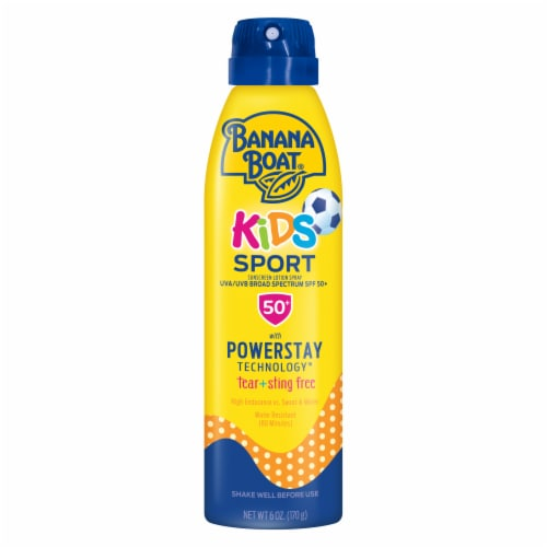 Banana Boat Kids Sport Sunscreen Spray SPF 50+ Perspective: front