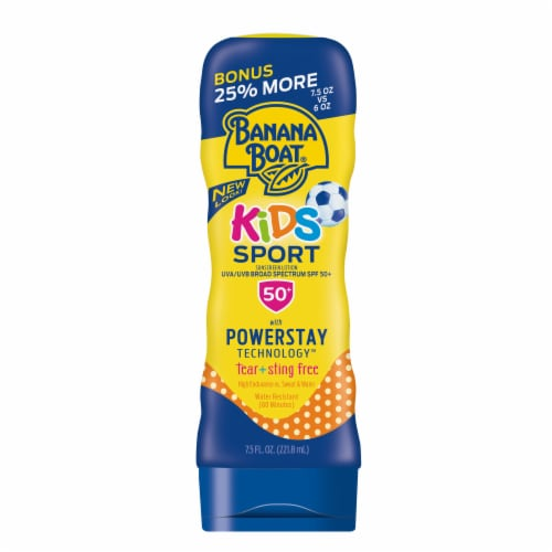 Banana Boat SPF 50+ Kids Sport Sunscreen Lotion Perspective: front
