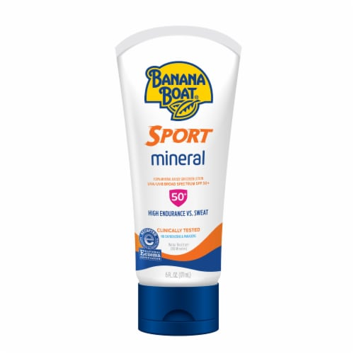 Banana Boat Sport Mineral Sunscreen Lotion SPF 50+ Perspective: front