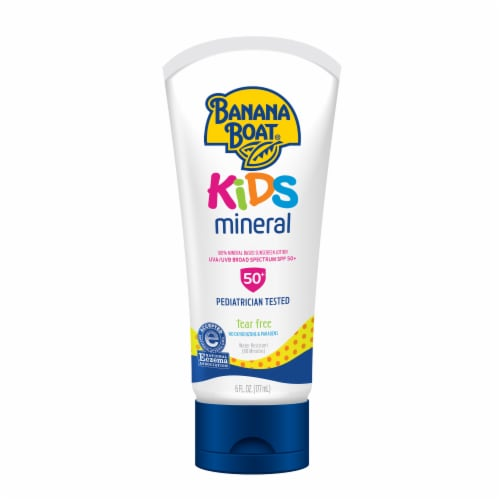 Banana Boat Simply Protect Kids Sunscreen Lotion SPF 50+ Perspective: front