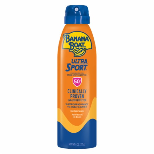Banana Boat Ultra Sport Sunscreen Spray SPF 50+ Perspective: front