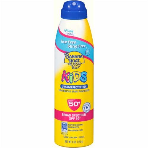 Banana Boat Kids Tear Free Sunscreen Spray SPF 50 Perspective: front