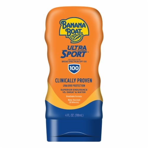 Banana Boat Ultra Sport Sunscreen Lotion SPF 100 Perspective: front