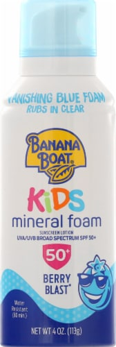 Banana Boat Berry Blast Mineral Foam Sunscreen Lotion - SPF 50+ Perspective: front