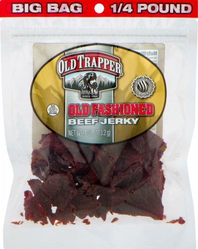 Old Trapper Old Fashioned Beef Jerky Perspective: front