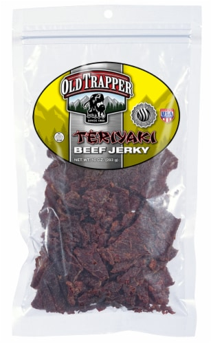Old Trapper Teriyaki Beef Jerky Perspective: front