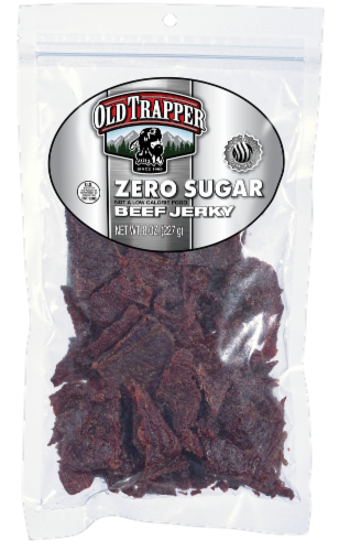 Old Trapper Zero Sugar Beef Jerky Perspective: front