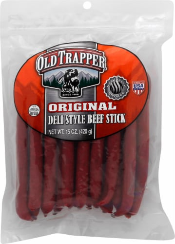 Old Trapper Original Deli Style Beef Stick Perspective: front
