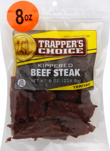 Trapper's Choice Teriyaki Kippered Beef Steak Perspective: front