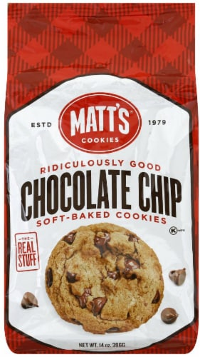 Matt's Chocolate Chip Soft Baked Cookies Perspective: front