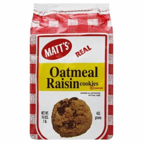 Matt's Real Oatmeal Raisin Cookies Perspective: front