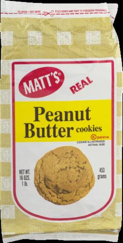 Matt's Real Peanut Butter Cookies Perspective: front