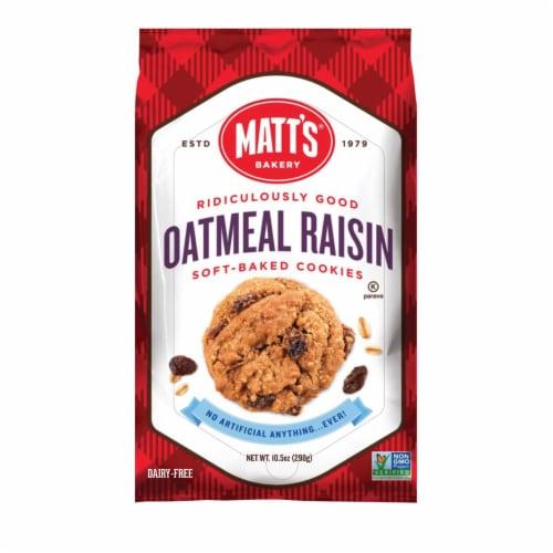 Matt's Oatmeal Raisin Cookies Perspective: front