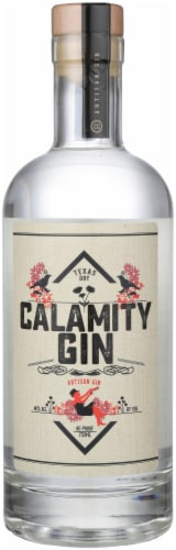 Calamity Gin Texas Dry Artisan Gin Perspective: front