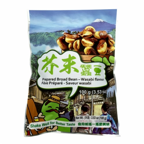 Six Fortune Wasabi Flavored Prepared Broad Bean Perspective: front