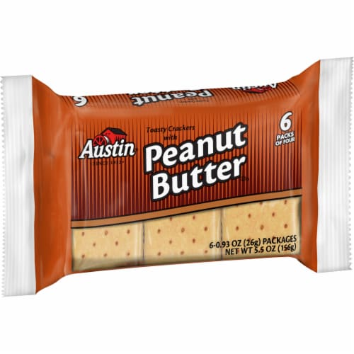 Austin Toasty Cracker with Peanut Butter, 0.91 Ounce -- 144 per case. Perspective: front