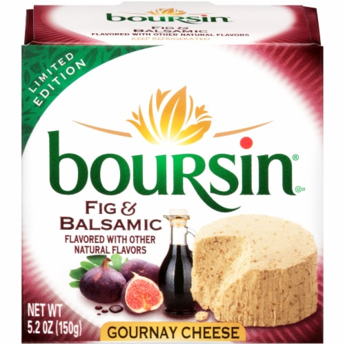 Boursin Fig Balsamic Cheese Perspective: front