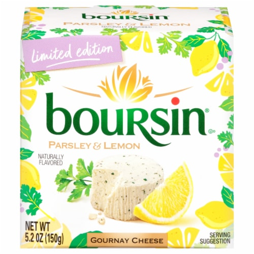 Boursin Parsley and Lemon Gournay Cheese Perspective: front