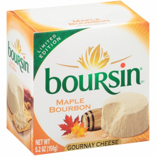 Boursin Maple Bourbon Gournay Cheese Perspective: front