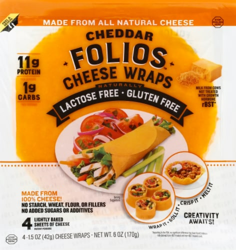 Folios Cheddar Cheese Wraps Perspective: front