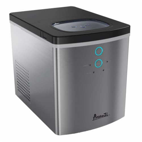 Avanti AVAIM1213SIS Stainless Steel Portable Ice Maker Perspective: front