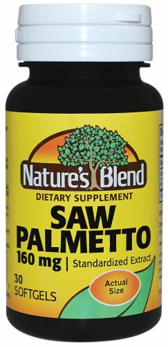 Nature's Blend Saw Palmetto Extract Softgels 160mg Perspective: front