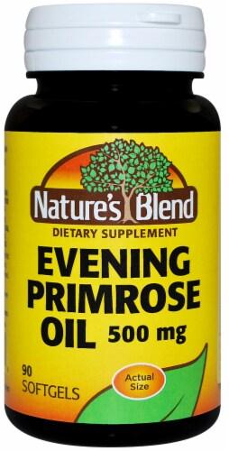 Nature's Blend Evening Primrose Oil Softgels 500mg Perspective: front